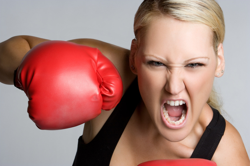 Aggressive Boxing Girl