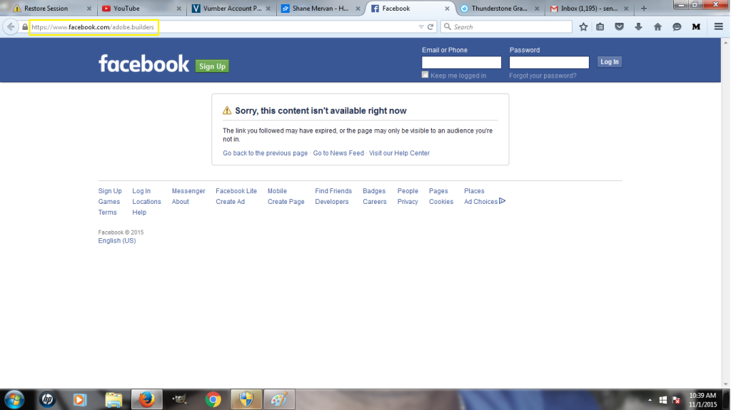 Shane Mervan Biz Facebook Shut Down Yellow