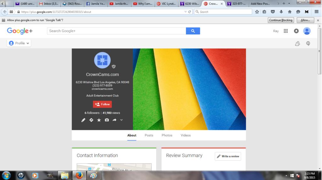 Vic Lynxton Google Plus Info 2