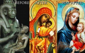 "The ""virgin"" mary, stolen from the Goddess Isis"