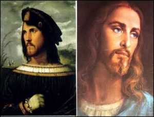 Cesare Borgia is the white guy used to depict Jesus.