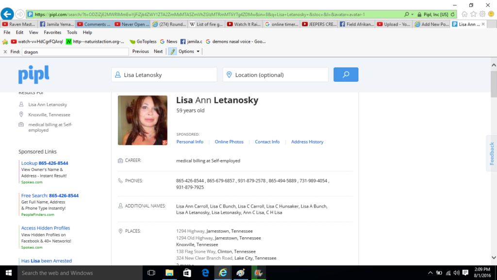 Lisa Letanosky Info Public Record