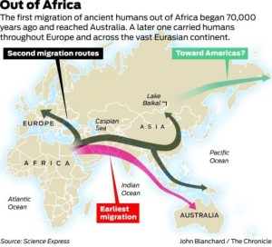 2nd migrational wave out of africa