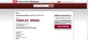 Charles Brown Telephone Info