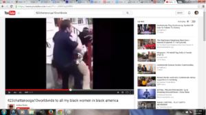 Look at what he watches and sees - VIOLENCE AGAINST BLACK WOMEN! I personally think these vids are TURN ONS for him in light of what he DID and is probably still doing to this day!